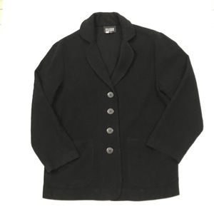 Eileen Fisher 100% Wool Black Unlined Jacket